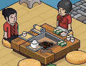 New Japanese furniture in Habbo Hotel